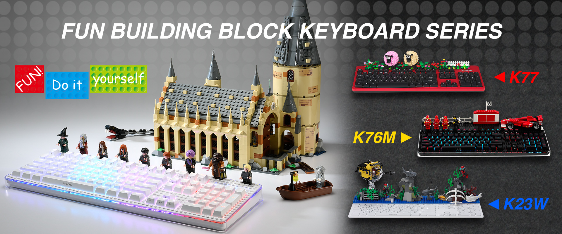 FUN BUILDING BLOCK KEYBOARD SERIES